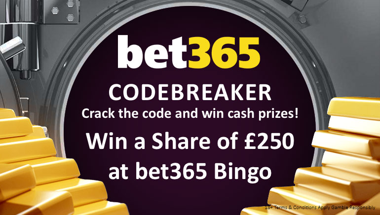 The Countdown for the bet365 Bingo Codebreaker is On!