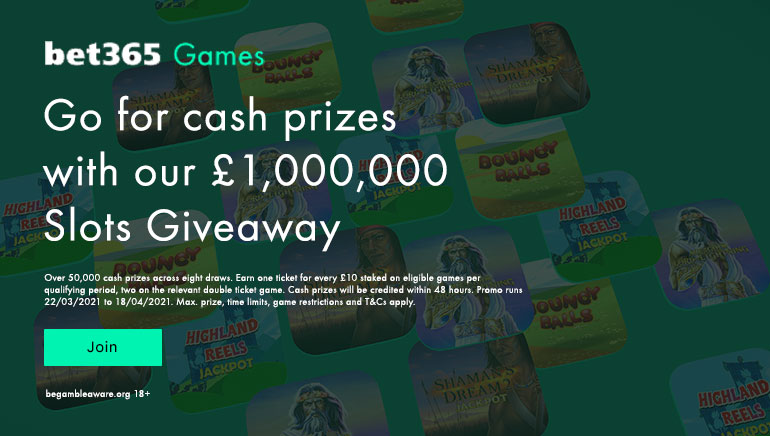 £1,000,000 up for Grabs in bet365 Slots Giveaway