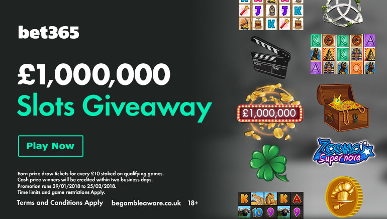 The bet365 Million Pound Slots Giveaway is Back