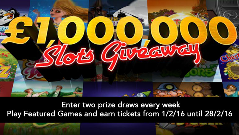 Win Huge Prizes in February's £1,000,000 Slots Giveaway at bet365