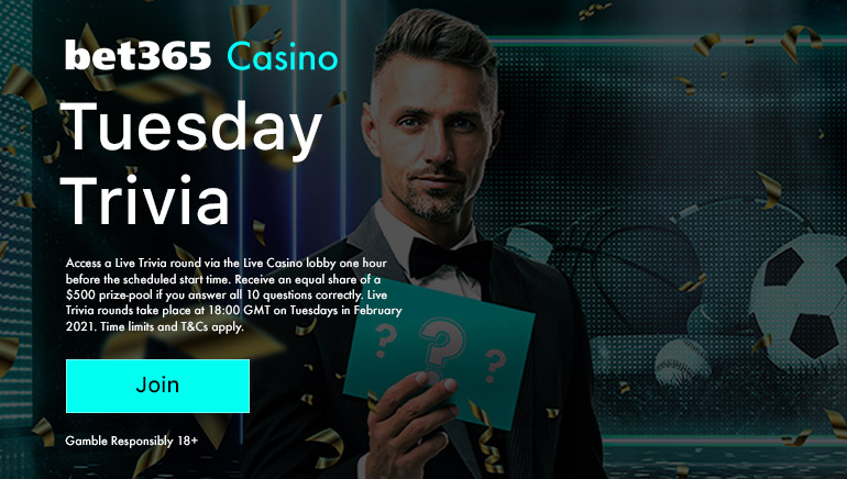 Join bet365 Trivia Throughout February & Compete for a Share of €500
