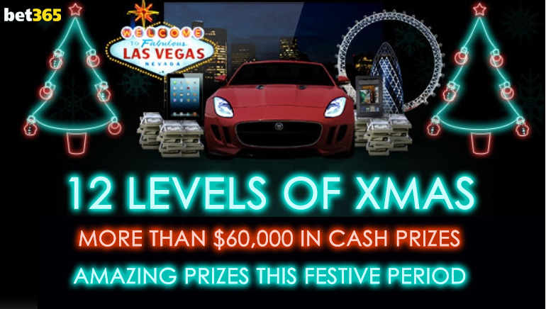 Enjoy 12 Levels of Christmas and Win a Fortune at bet365 Casino