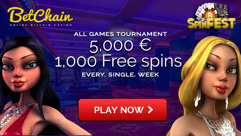 €10,000 Weekly Spinfest Tournaments at Betchain Casino