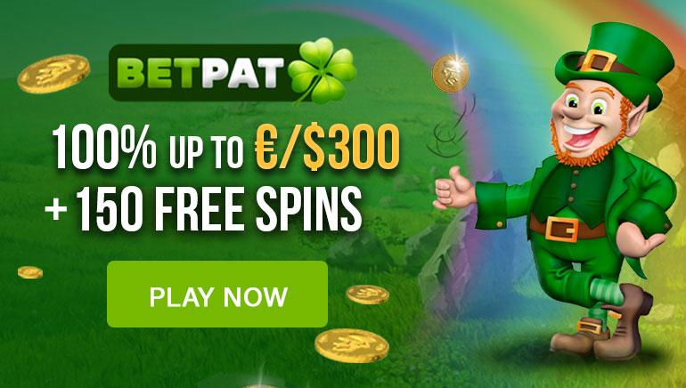 BetPat Casino's €300 Welcome Bonus & 150 Free Spins