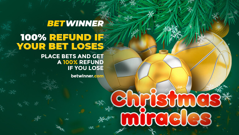 100% Refunds up to €10 in Betwinner Christmas Miracles