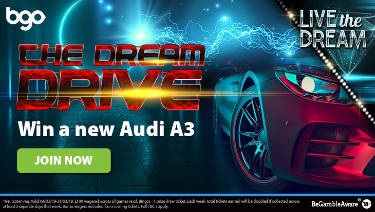bgo Casino Giving Away a Brand New Audi A3