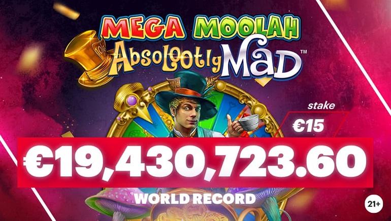 Microgaming's Mega Moolah Sets New Record With €19.4 Million Payout