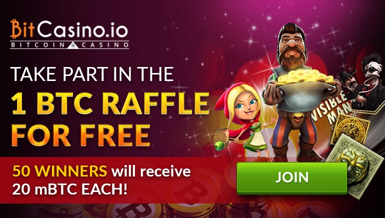 Win Your Share of 1 BTC In The BitCasino Raffle