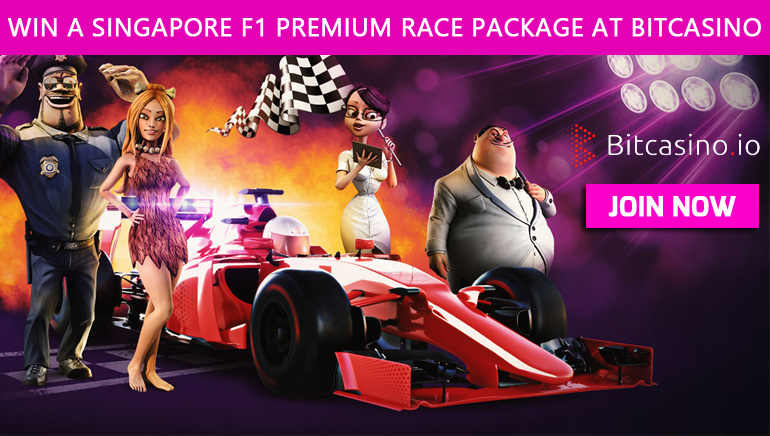Travel to Singapore for The F1 Grand Prix Race with Bitcasino