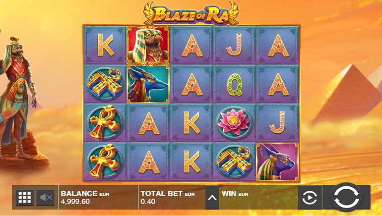 Blaze of Ra Slot from Push Gaming Hits Online Casinos