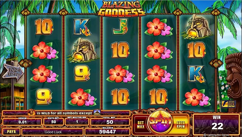 Blazing Goddess Slots Review & Free Instant Play Casino Game
