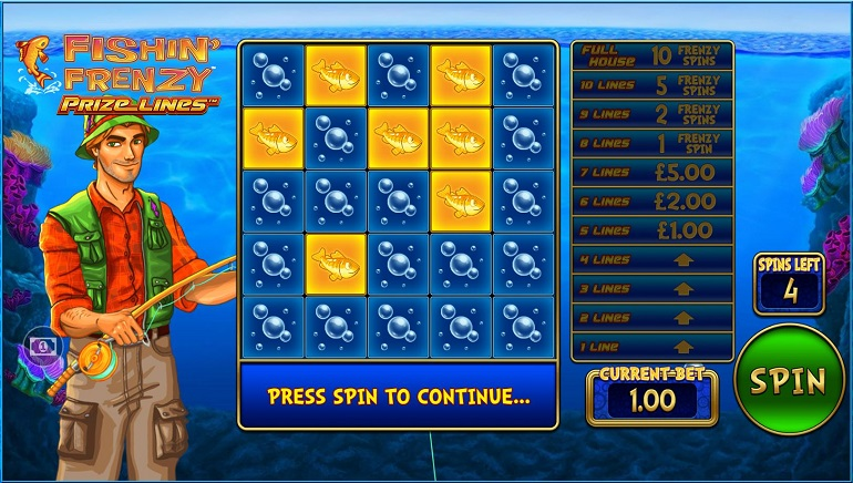 Blueprint Gaming to Launch Fishin' Frenzy Prize Lines™ Slot