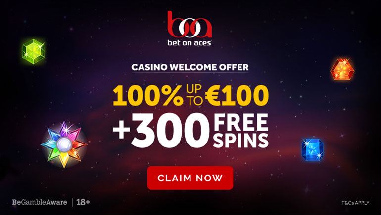 300 Starburst Freespins and Generous Welcome Bonus at Bet on Aces