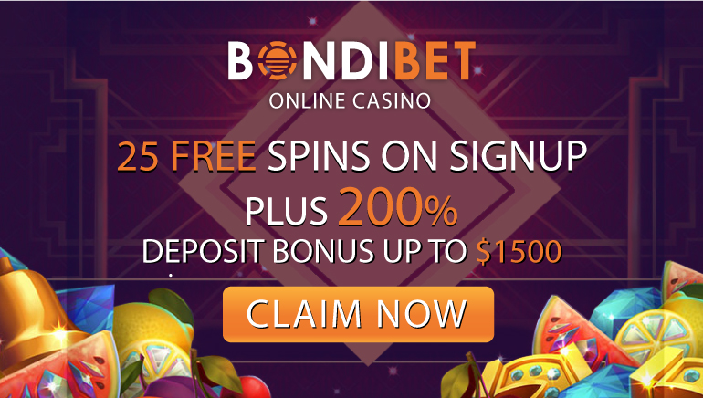 Go Big With BondiBet 200% Welcome Bonus + 25 No Deposit Spins