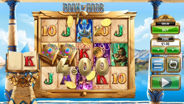 Big Time Gaming Explores Ancient Egypt in Book of Gods Slot