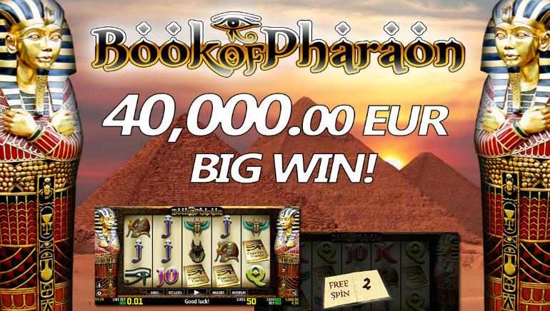 Player Hits Big €40,000 Payday Playing World Match's Book of Pharaon HD Slot