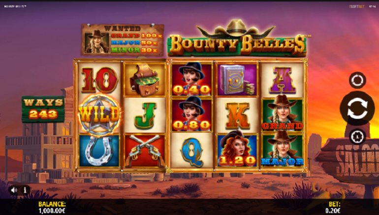 Collect Big Wins With New Bounty Belles Slot by iSoftBet