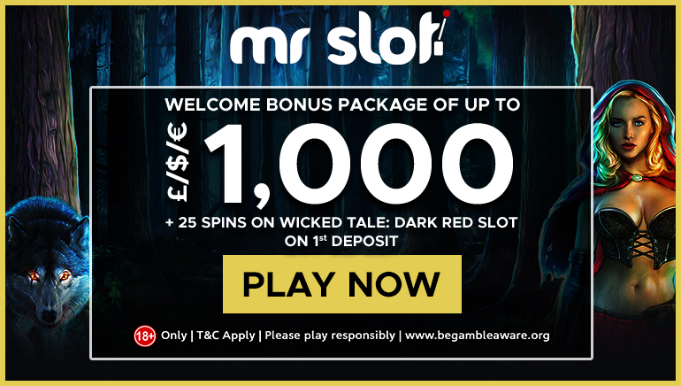 Mr Slot Casino's £/$/€1,000 Welcome Package & 25 Free Spins