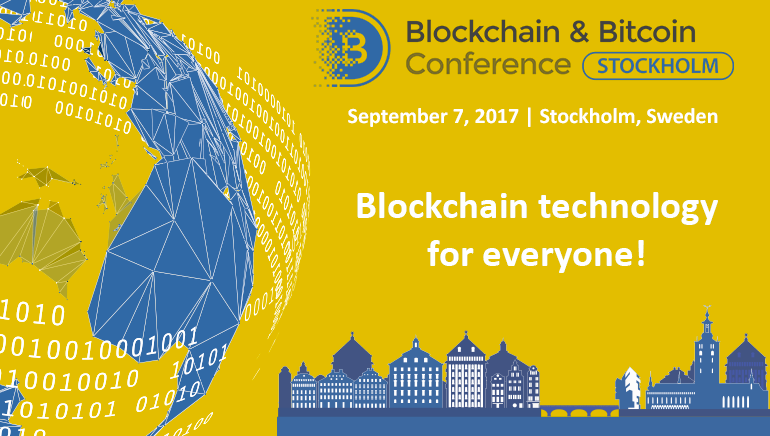 Stockholm to Host First-Ever Blockchain & Bitcoin Conference in September