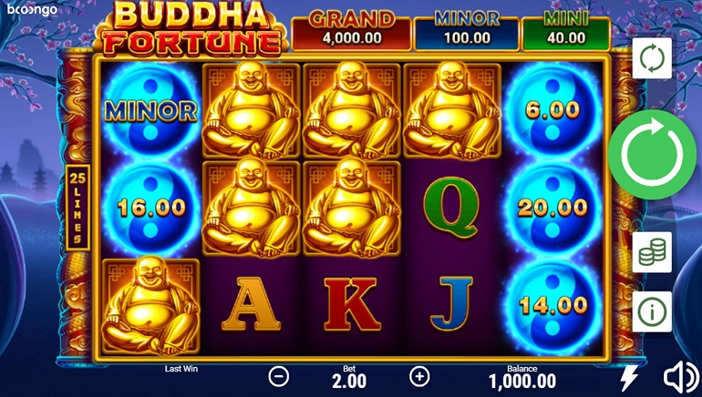 Buddha Fortune: Hold and Win Slot Released by Booongo