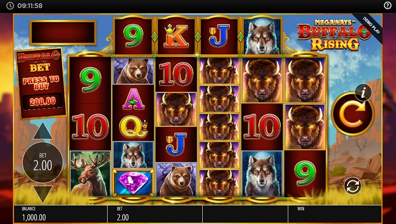 Blueprint Gaming's Jackpot King Network Expands With Buffalo Rising Megaways Slot