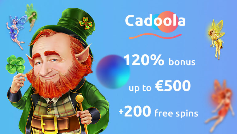 Exclusive 120% up to €500 + 200 Free Spins at Cadoola