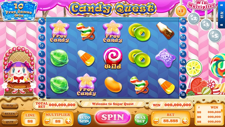 Candy Quest Slot Launched By XIN Gaming