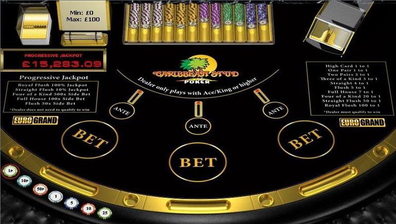 online casino bonus codes caribbean stud