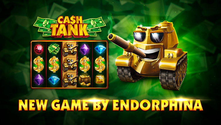 Endorphina's New Cash Tank Slot is Ready for Battle