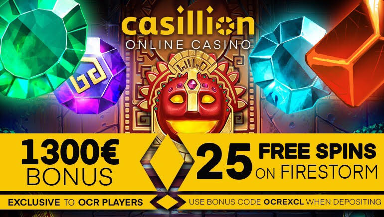 Get 25 Exclusive Freespins on Firestorm at Casillion Casino