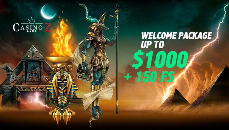 Casino-Z Providing €1,500 Bonus Offer & 150 Free Spins