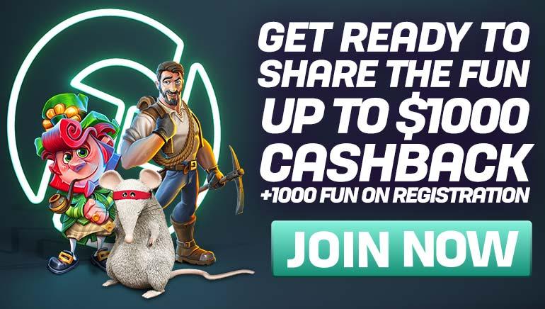 Generous Cashbacks and FUN Await at CasinoFair