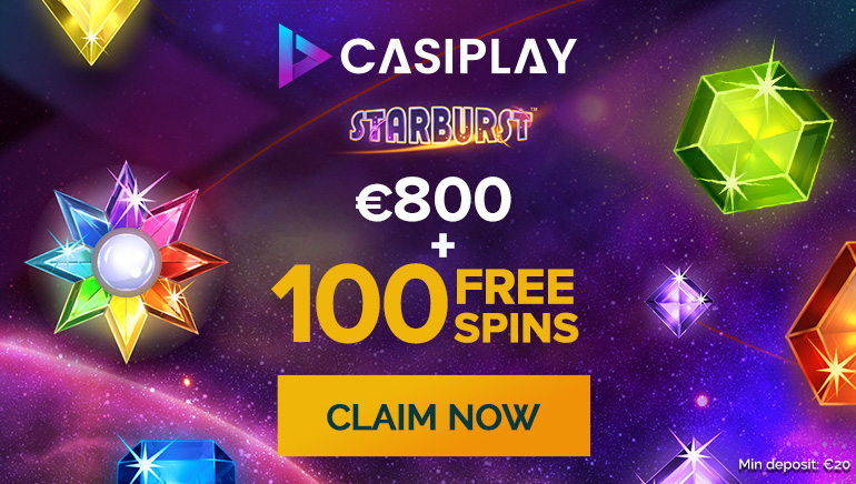Get €800 in Bonuses and 100 Extra Spins at Casiplay Casino