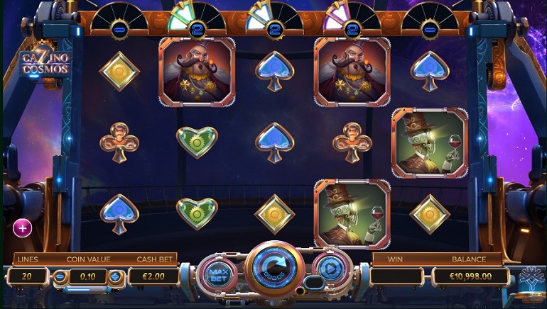 Steampunk Goes to Space in Cazino Cosmos Slot from Yggdrasil