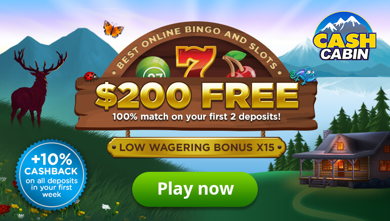 Cash Cabin Welcomes New Players With up to $200 Free in Bonus Cash