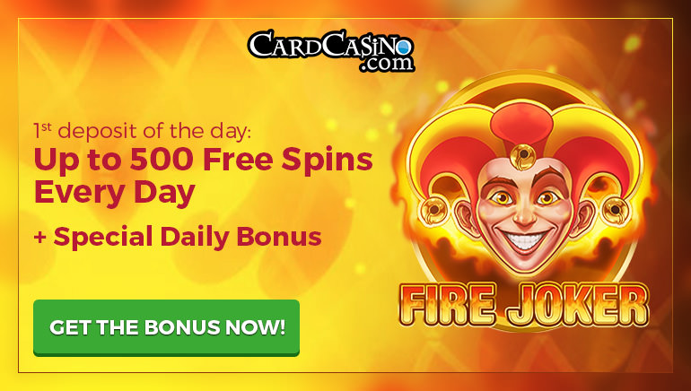 Card Casino is Offering an Incredible 500 Free Spins Every Day to Players
