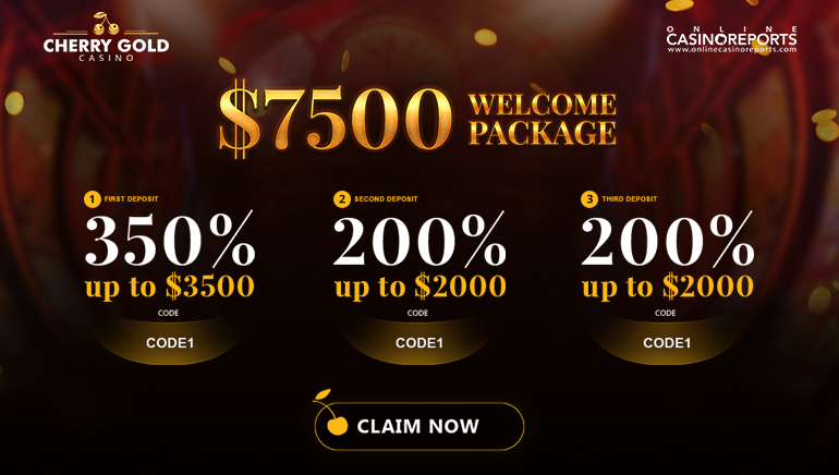 Claim Up To $7,500 When You Join Cherry Gold Casino
