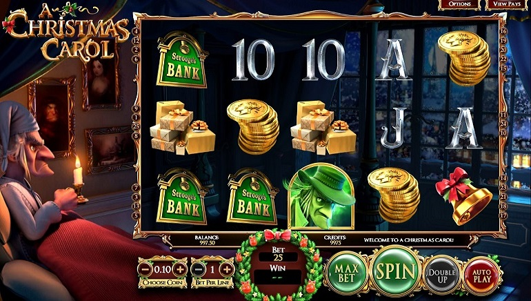 BetSoft Launches Christmas Carol Slot