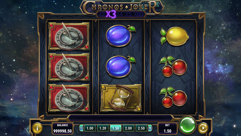 Play with time in Play'n GO's Chronos Joker Slot