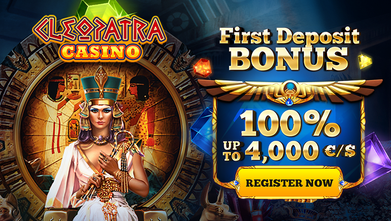 Cleopatra Casino Offering Massive €/$4,000 Welcome Bonus