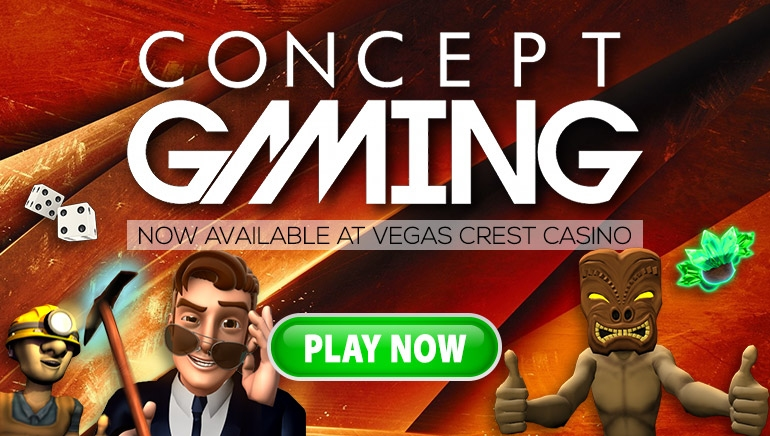 Vegas Crest Casino Expands Gaming Offering with Concept Gaming Titles