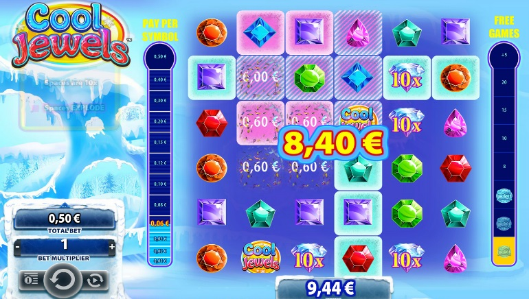 Williams Interactive Launches Unique 6-Reel Video Slot Cool Jewels