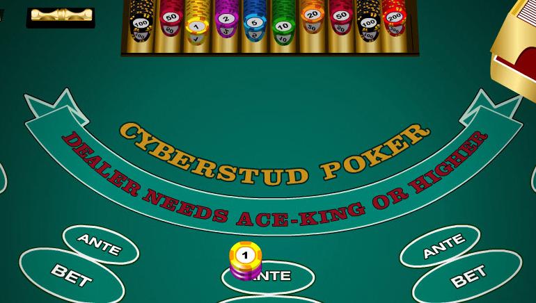 Cyberstud Progressive Jackpot Poker Game