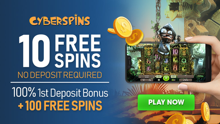 €1,250 Welcome Offer and 200 Free Spins at CyberSpins Casino