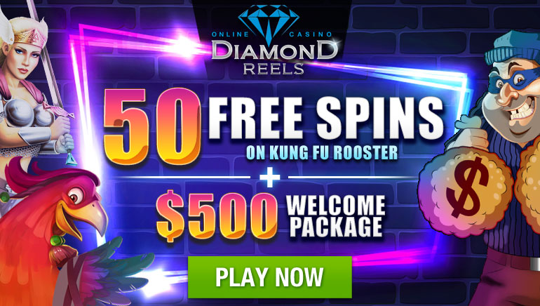 Diamond Reels Offers $500 and 50 Free Spins to New Players