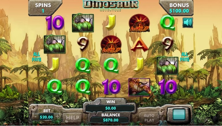 New Slot Release: Dinosaur Adventure by Genesis Gaming