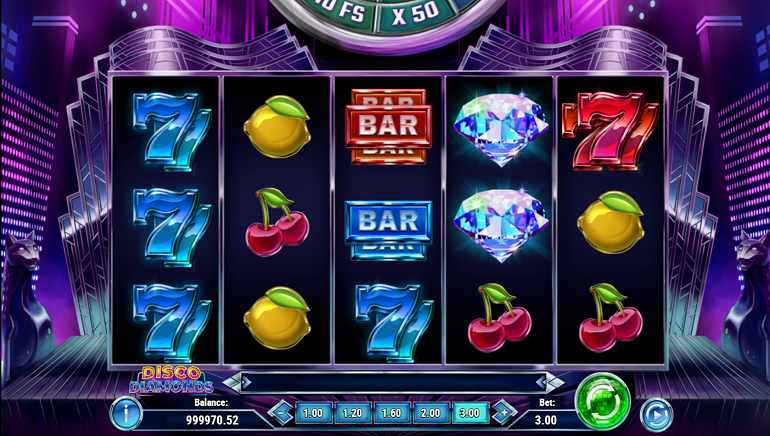 Boogie on Down with the Disco Diamonds Slot from Play'n GO