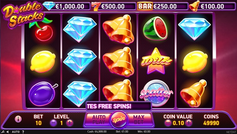 Double Stacks by NetEnt Reboots Classic Fruity Slots Games