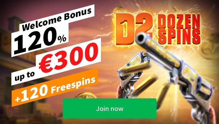 Dozenspins Casino Has a €300 Welcome Bonus & 120 Free Spins