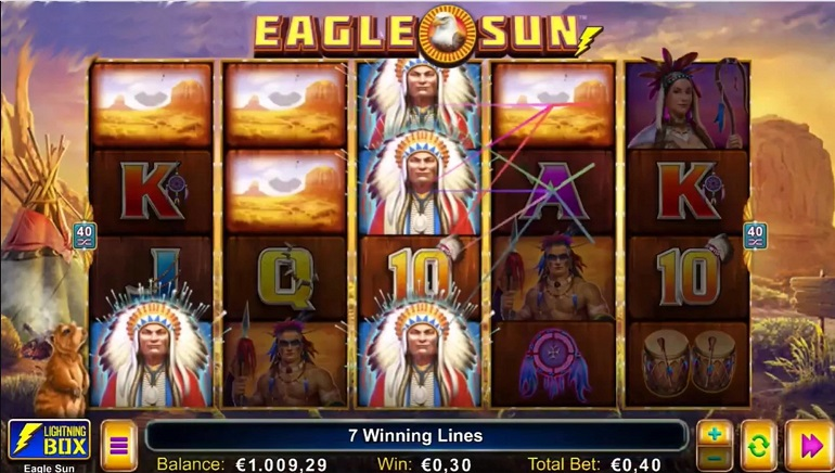 Eagle Sun Slot Released by Lightning Box Games